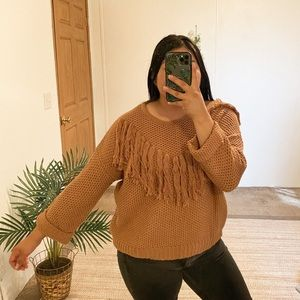 Mustard seed L brown sweater